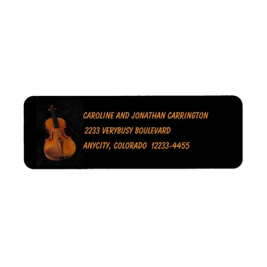 Violin Return Address Label