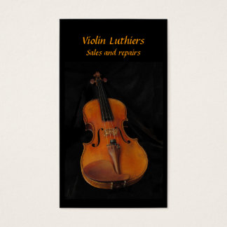 Violin Sales and Repairs Business Card