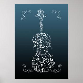 Violin Scrawl Poster
