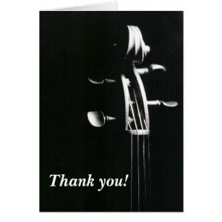 Violin Scroll Thank You Card