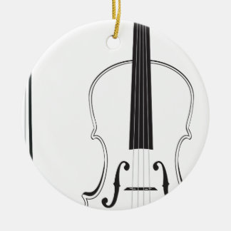 Violin Silhouette Christmas Ornament