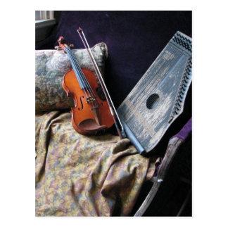 Violin Sill Life Postcard