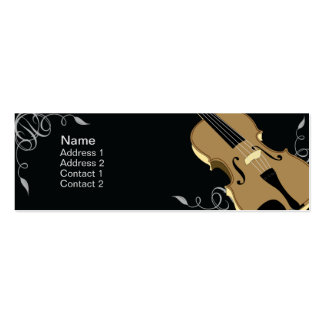 Violin - Skinny Business Card Templates
