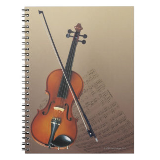 Violin Spiral Note Book