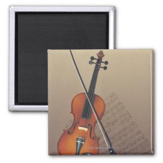Violin Square Magnet