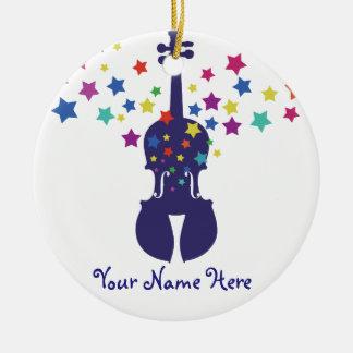 Violin Star Christmas Ornament