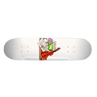 Violin Still Life with music graphic design Skate Board Decks