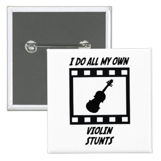 Violin Stunts 15 Cm Square Badge