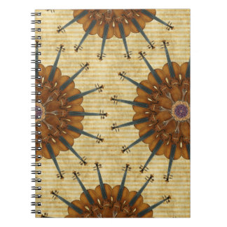 Violin Sunflowers Spiral Notebook