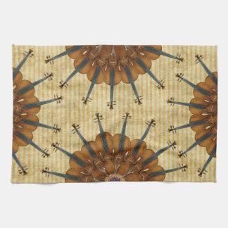 Violin Sunflowers Tea Towel