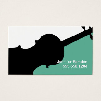 Violin Teacher Business Cards