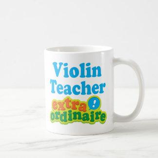 Violin Teacher Extraordinaire Gift Idea Basic White Mug