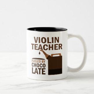 Violin Teacher (Funny) Chocolate Two-Tone Mug