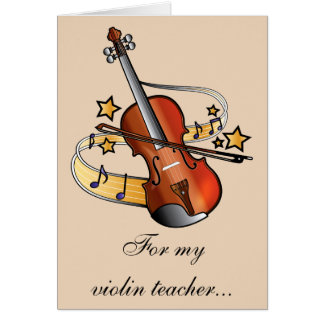 Violin Teacher Thank You Card