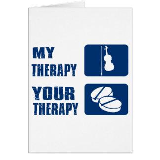 violin therapy design card