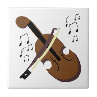Violin Small Square Tile
