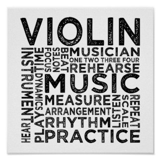 Violin Typography Posters