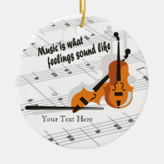 Violin Version What Feelings Sound Like- Customize Christmas Ornament