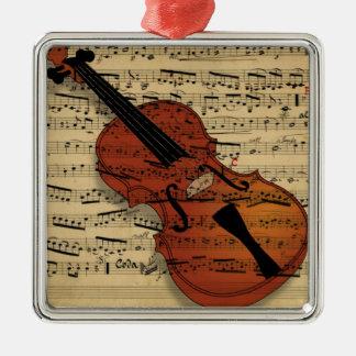 Violin Vintage Music Christmas Ornament