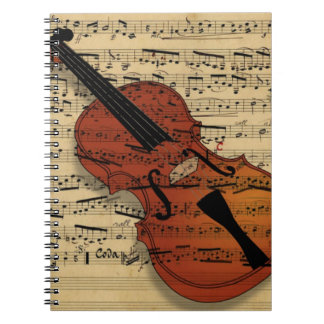 Violin Vintage Music Notebooks