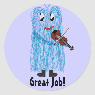 Violin & Viola - Get a Warm Fuzzy Feeling Classic Round Sticker