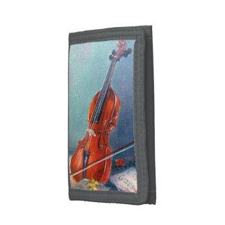 Violin/Violin Tri-fold Wallets