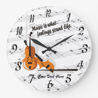 Violin - What Feelings Sound Like Round Wall Clock