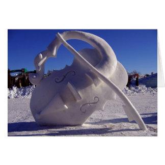 Violin - Winter Carnival, Quebec City Card