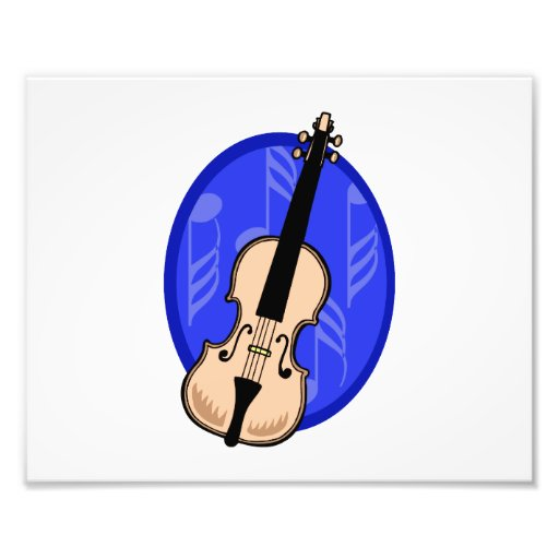 Violin With Blue Notes Background Photograph