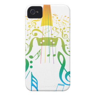 Violin with Notes 2 iPhone 4 Case