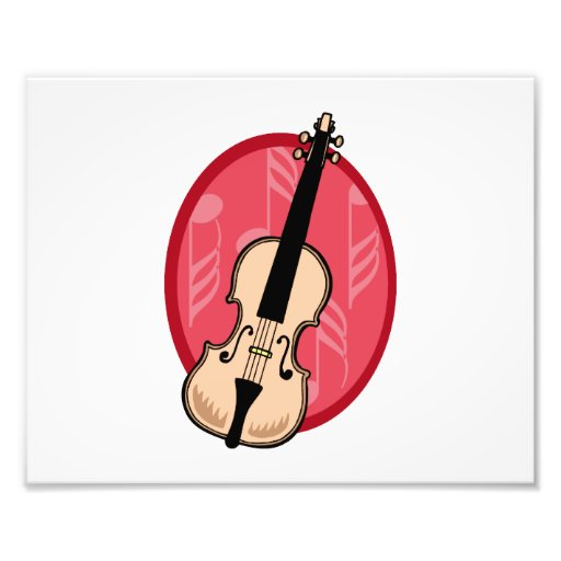 Violin With Pink Notes Background Photograph
