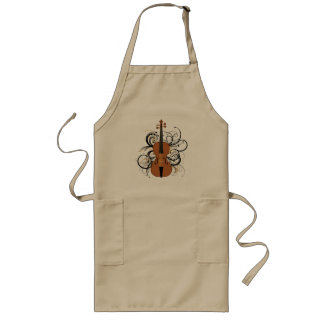 Violin with Swirls Long Apron