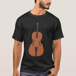 Violin: Wood Violin: 3d Model Angle #4: Music T-Shirt