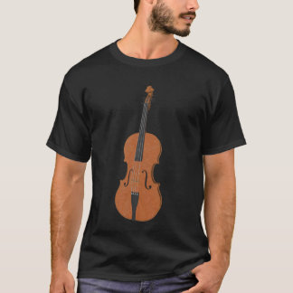 Violin: Wood Violin: 3d Model Angle #5: Music T-Shirt