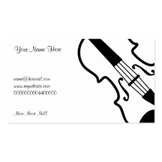 Violin, Your Name Here, Business Cards