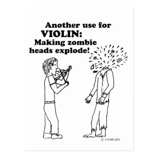 Violin Zombie Explode Postcard