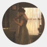 Violinist Classic Round Sticker