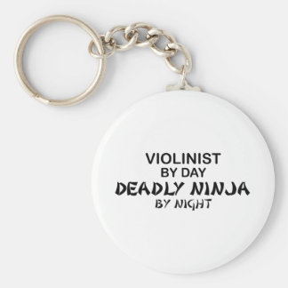 Violinist Deadly Ninja by Night Key Ring
