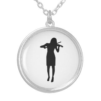 Violinist girl woman pendant