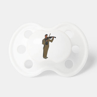 Violinist Male Figure Abstract brown.png Baby Pacifiers