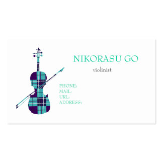 violinist pack of standard business cards