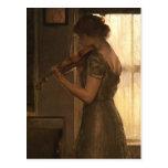 Violinist Post Card