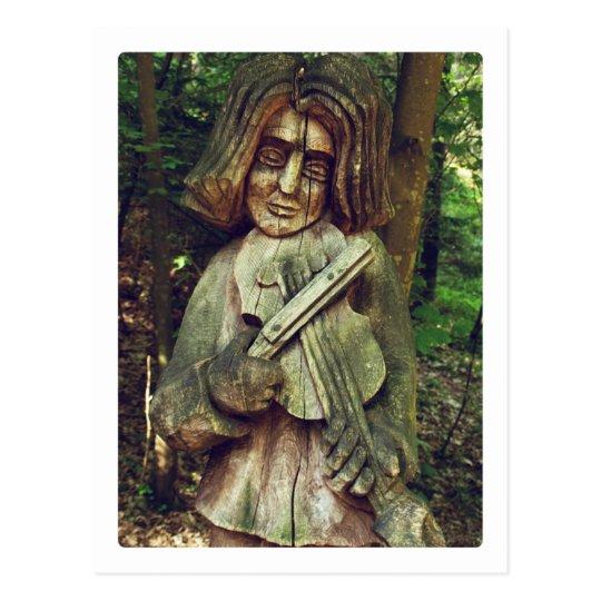 Violinist Postcard
