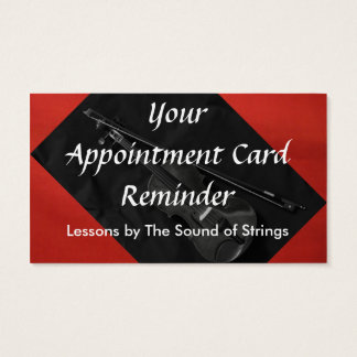 Violinistic Appointment Card (red)