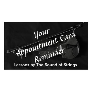 Violinistic Appointment Card (red) Pack Of Standard Business Cards
