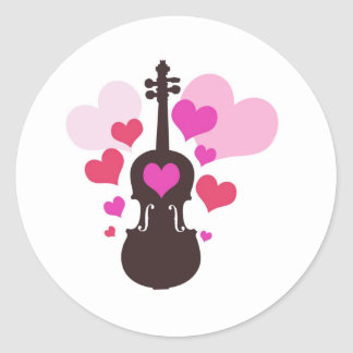 violinlove round sticker