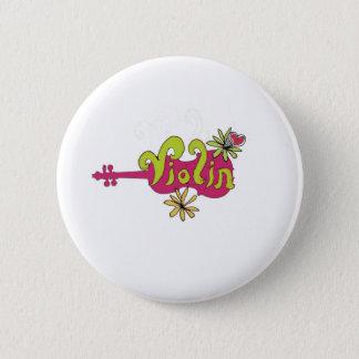 violinplayer 6 cm round badge