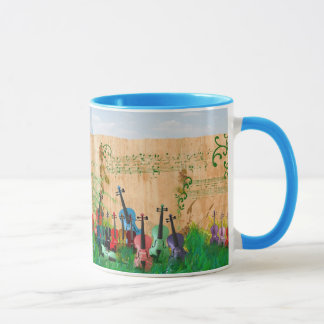 Violins Colorfully All In A Row Mug