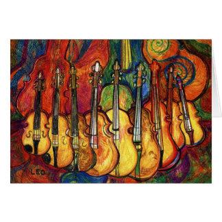 Violins Greeting Card