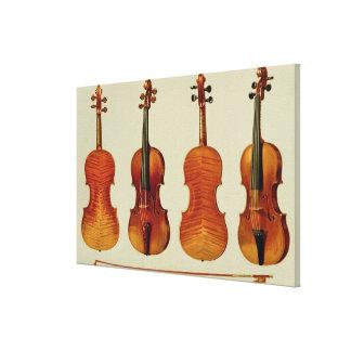 Violins (LtoR): the 'Alard' by Antonio Stradivariu Canvas Print